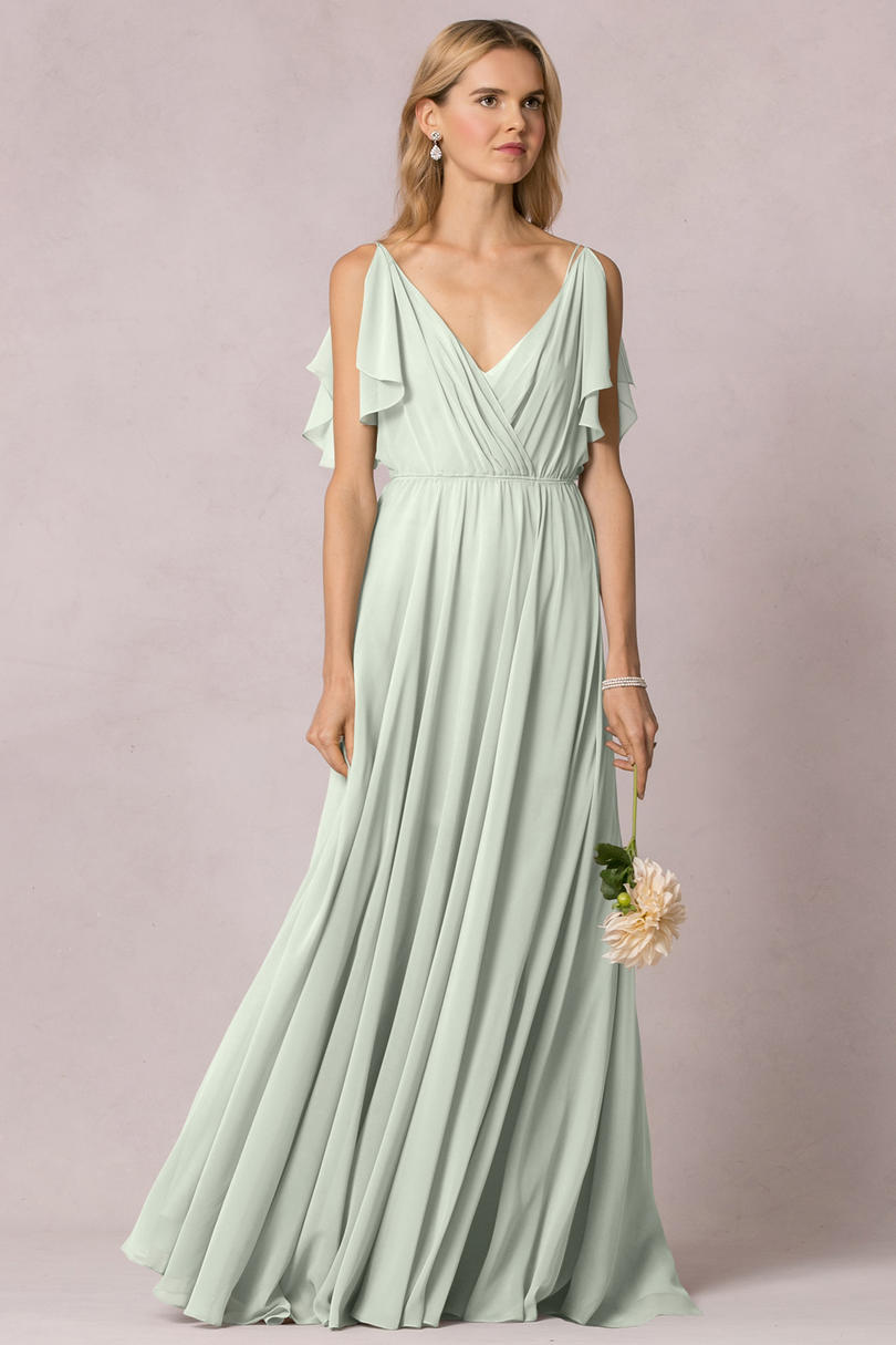 2017 Bridesmaid Dress Trends Flutter Sleeves 2