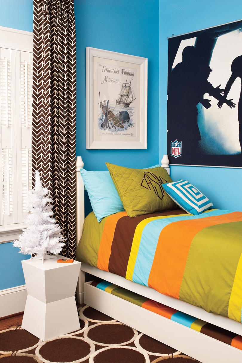 bedrooms decorated for christmas southern living kids football bedroom
