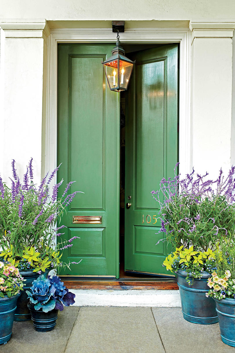 Green Front Door in Charleston