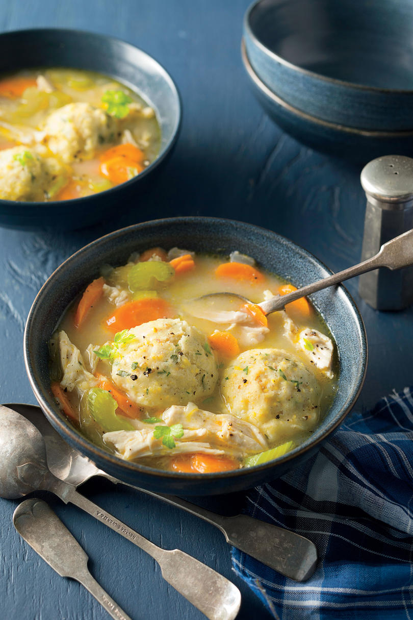 Chicken and Herbed Cornmeal Dumplings
