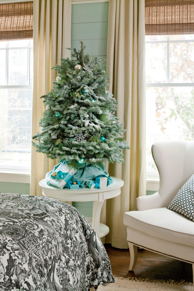 Mini Christmas Tree in Master Bedroom