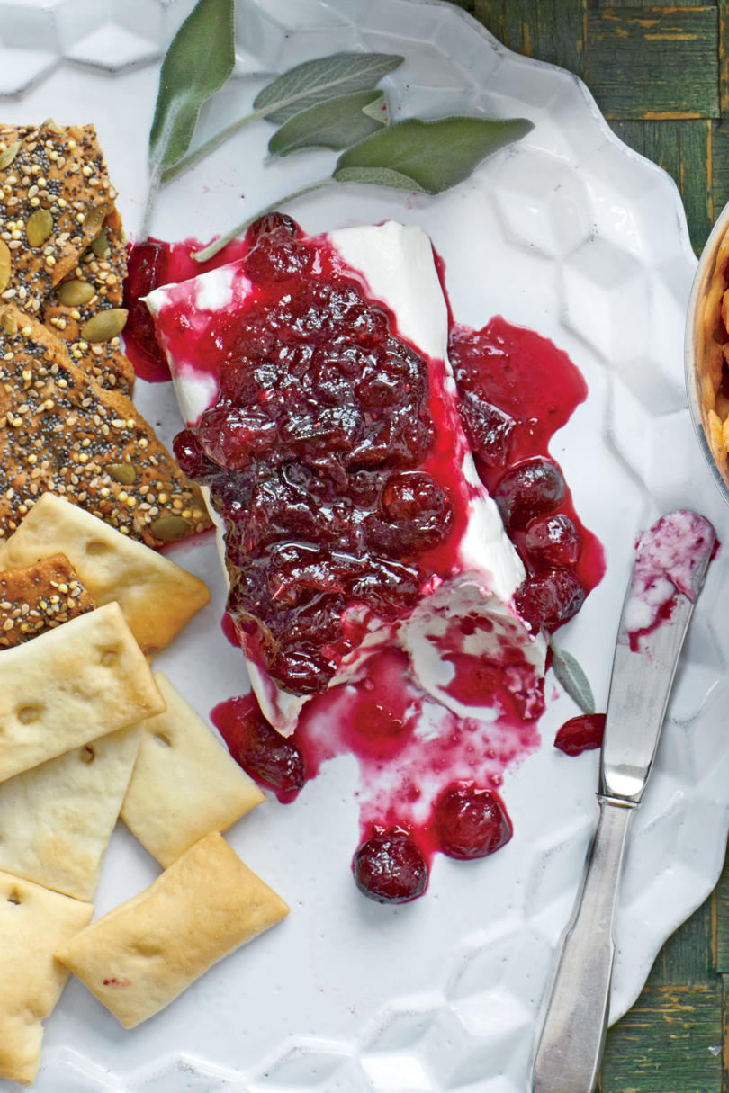 Wine-Spiked Cranberry Cheese Log
