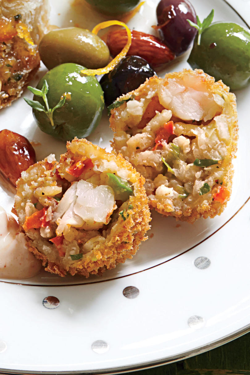 Gumbo Rice Fritters