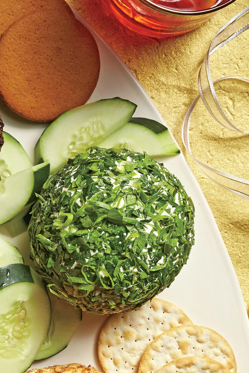 Feta-Olive Fresh Herb Cheese Ball