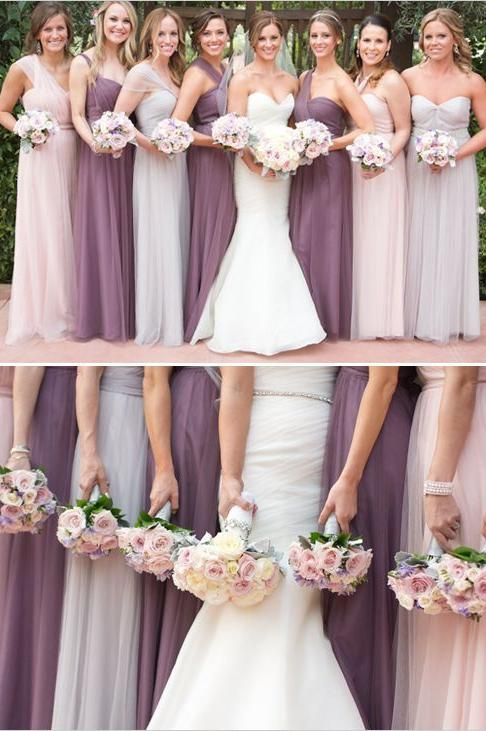7 bridesmaid dress trends for 2017 southern living 2017 bridesmaid dress trends ombre 2 junglespirit Image collections