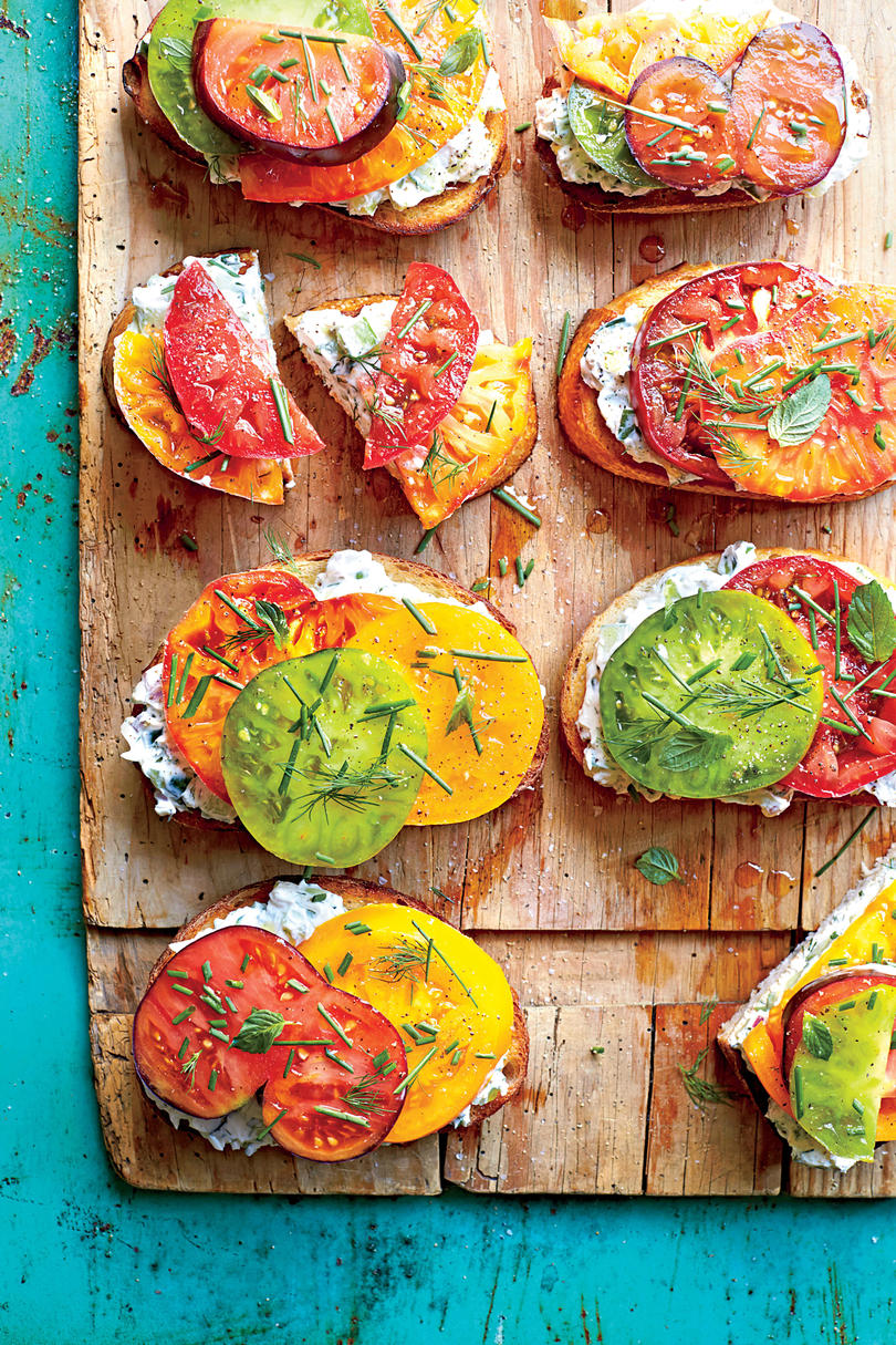 The Open-Faced Tomato Sandwich