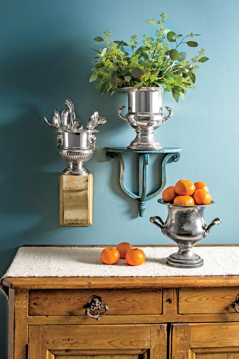 Repurposed Antique Champagne Buckets
