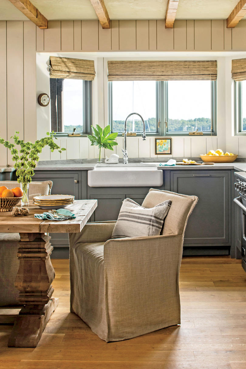 gray and neutral kitchen - Small Space Home