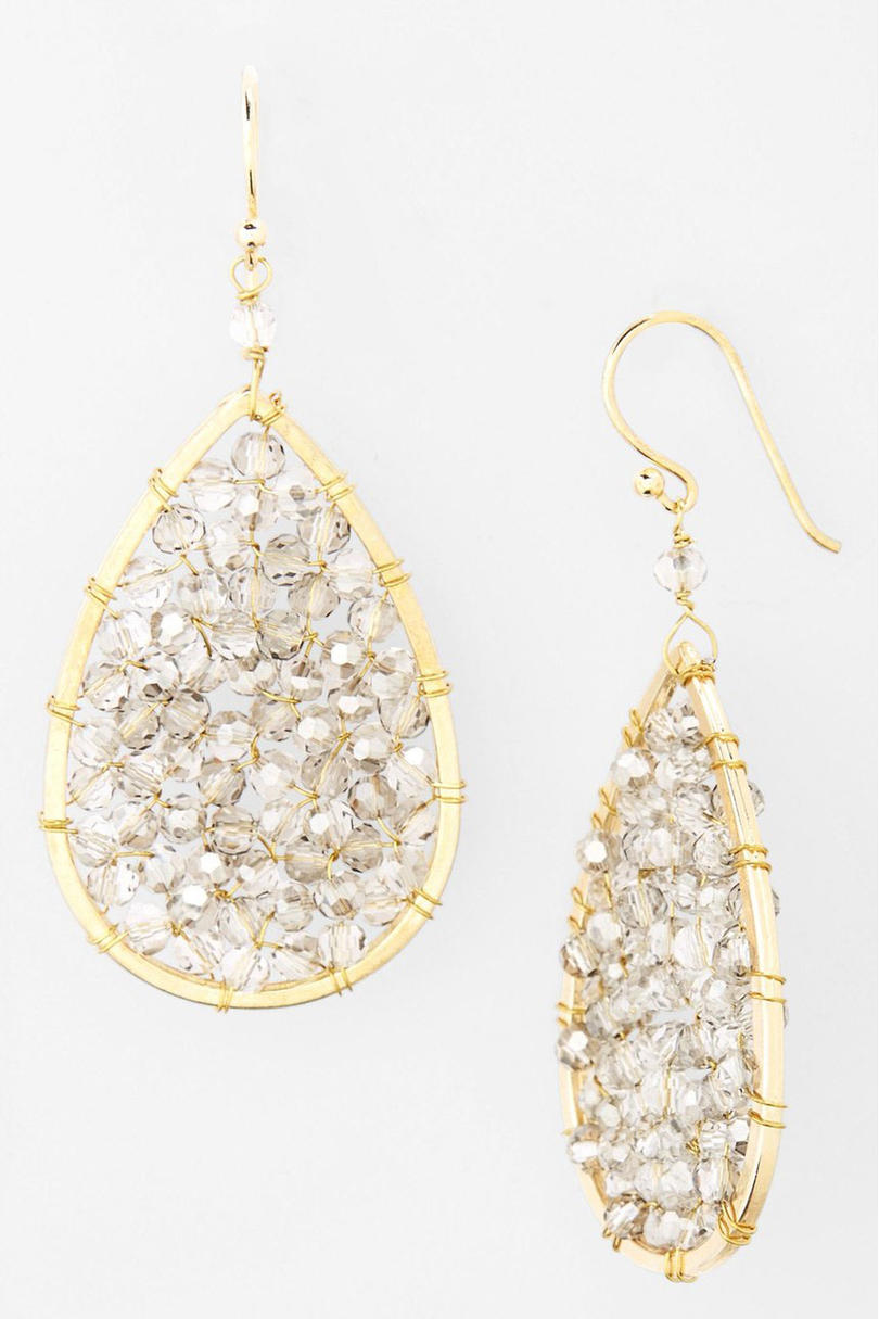 Smoky Crystal Earrings