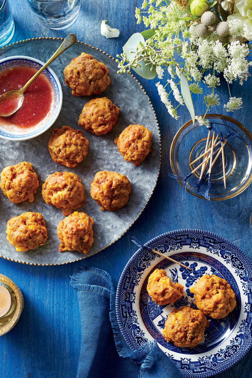 Best party appetizers and recipes southern living appetizer sweet potato and chorizo sausage bites forumfinder Image collections