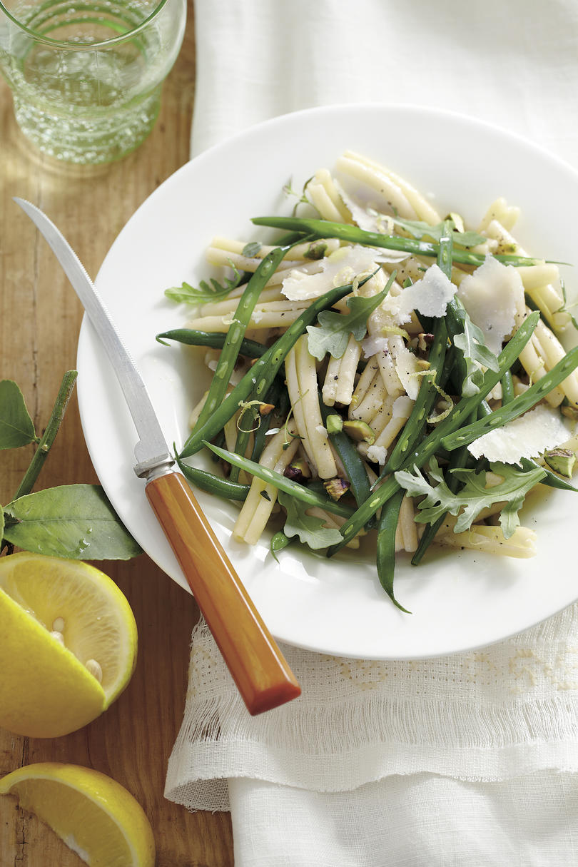 Best Lemon Recipes Green Bean Pasta Salad with Lemon-Thyme Vinaigrette