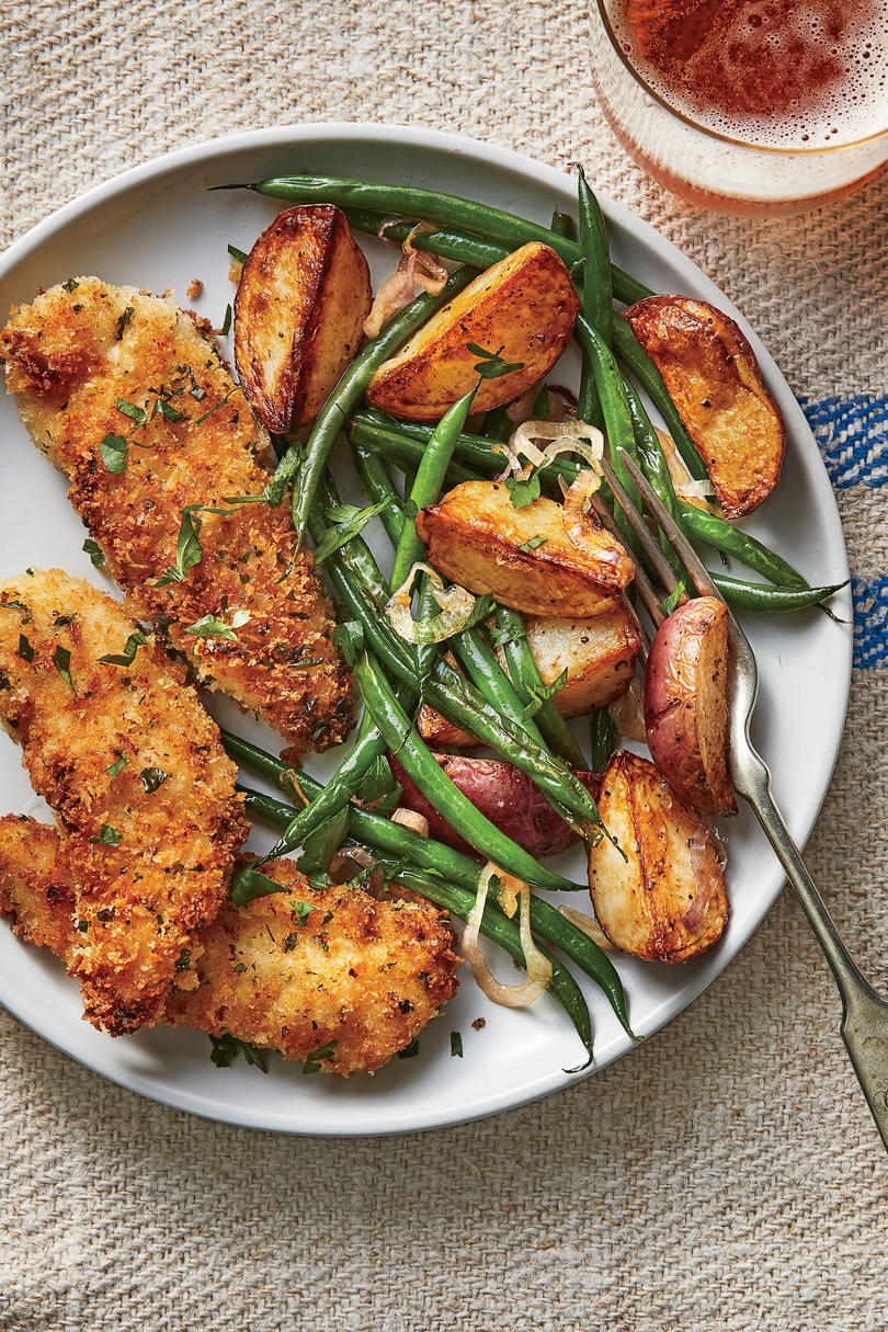 Thursday: Buttermilk Chicken Tenders with Roasted Potatoes and Green Beans