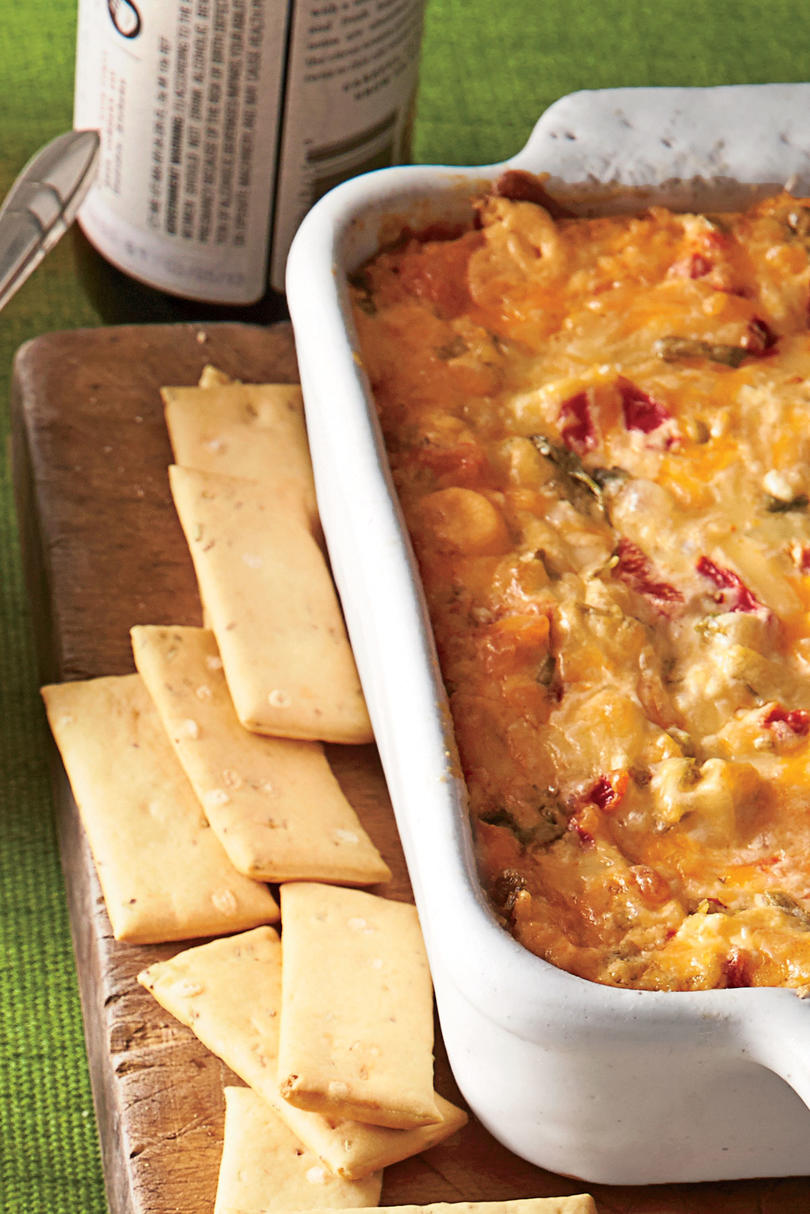 Golden Globe Appetizers Baked Tex-Mex Red Pepper Cheese Dip
