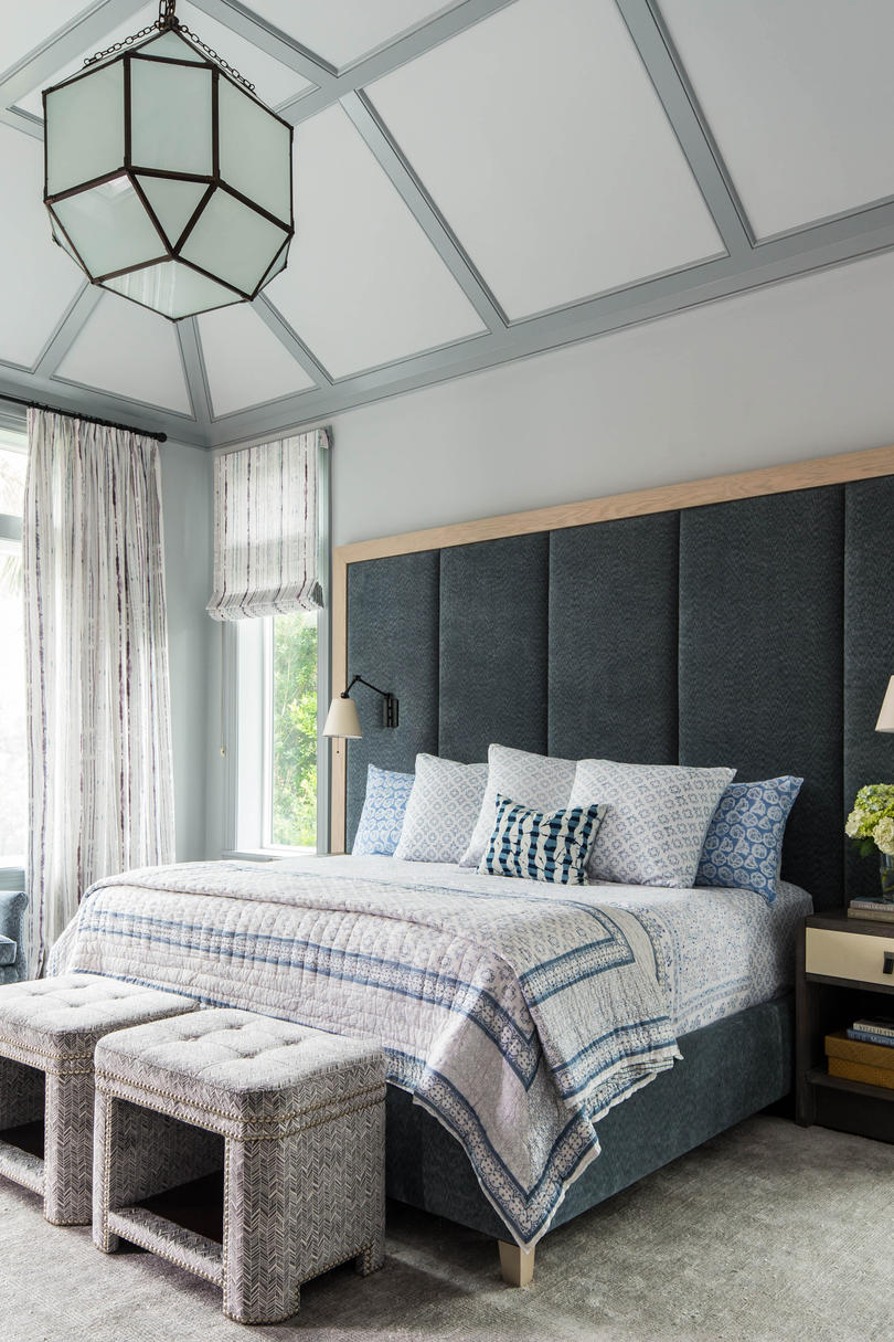 Blue Gray Master Bedroom