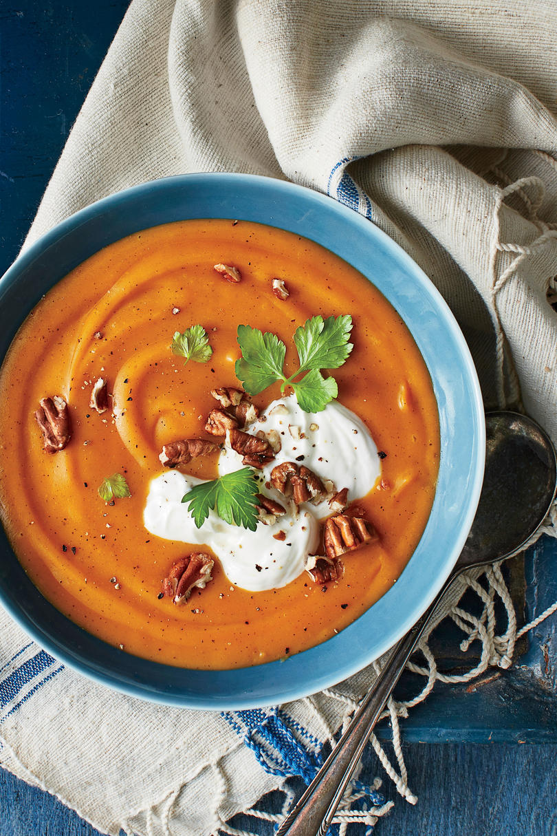 A month of fall soup recipes southern living for Soup for a cold