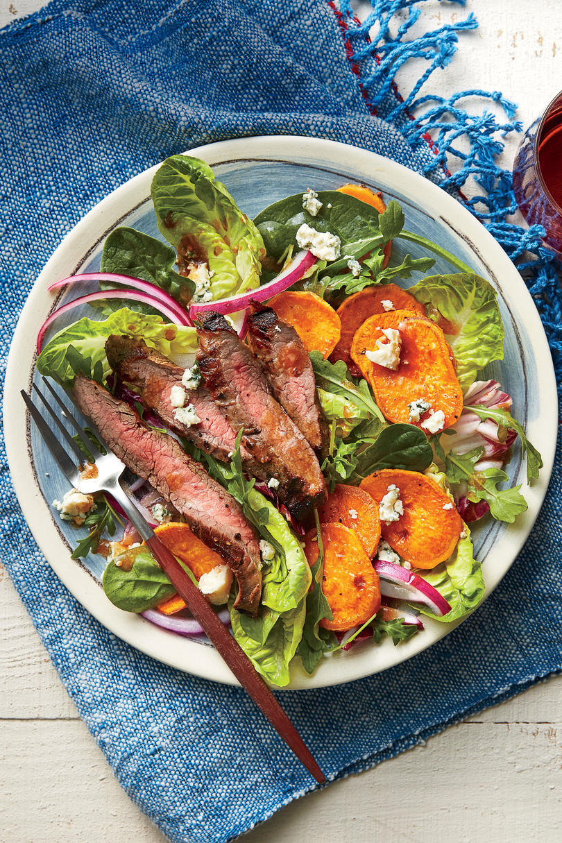 Simple Suppers Challenge: Steak, Sweet Potato, and Blue Cheese Salad