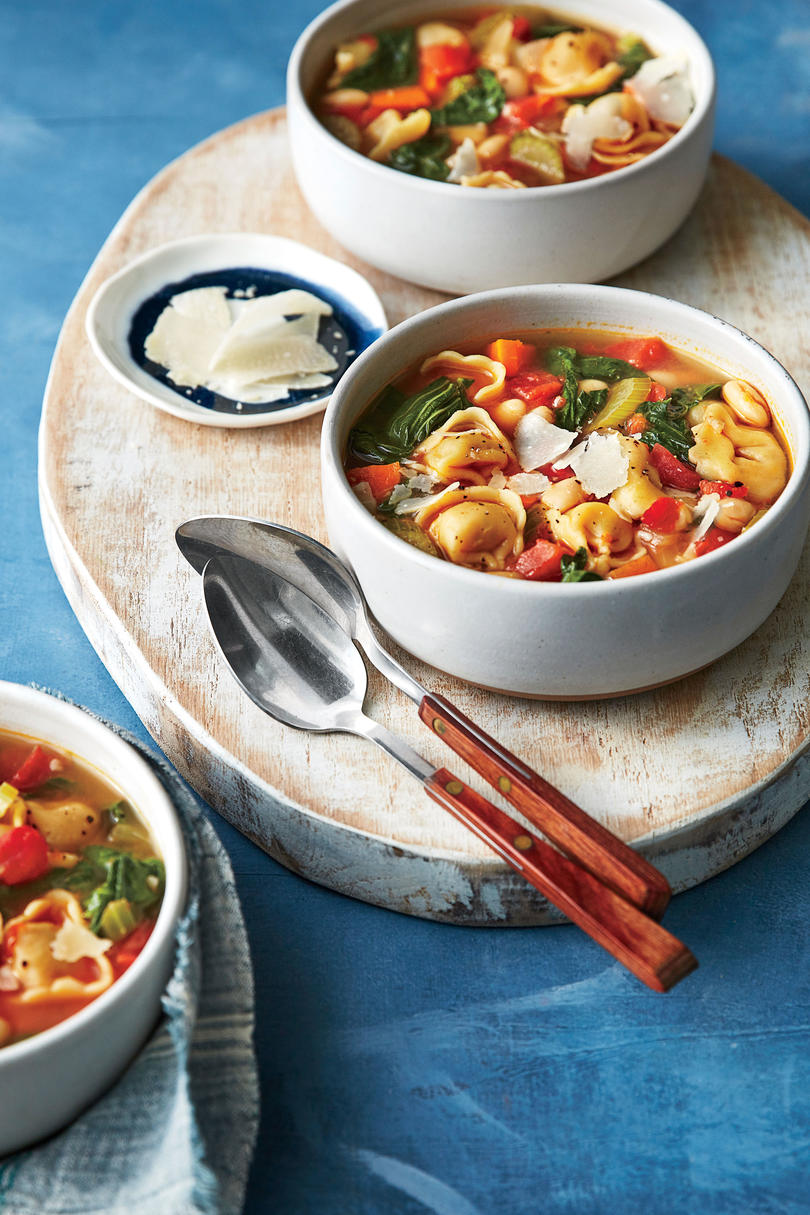 Simple Suppers Challenge: Tortellini, White Bean, and Turnip Greens Soup