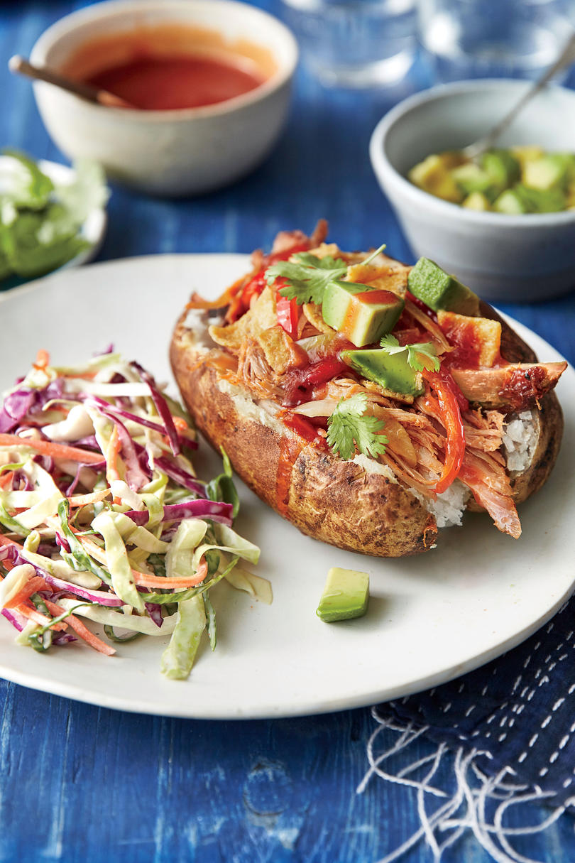 Simple Suppers Challenge: BBQ Pork Loaded Baked Potatoes