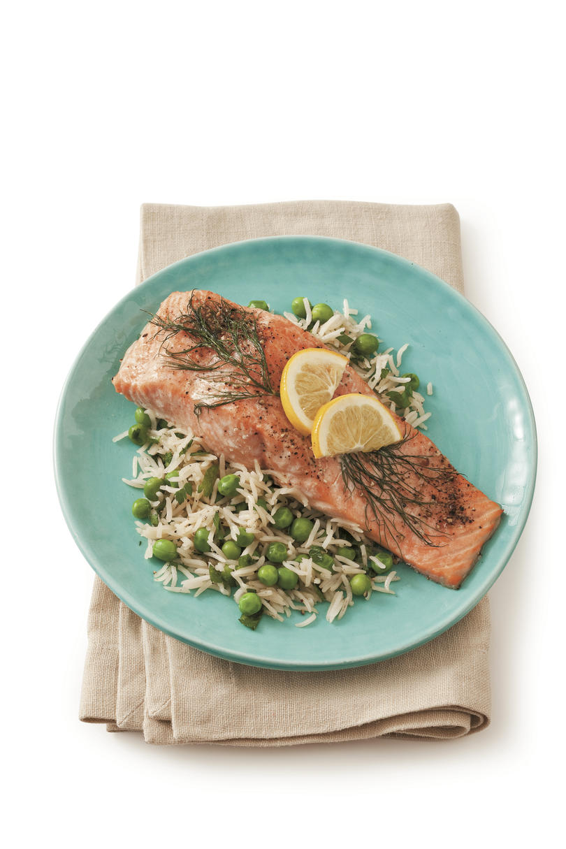 RX_1701_Best Lemon Recipes Roasted Salmon with Lemon and Dill
