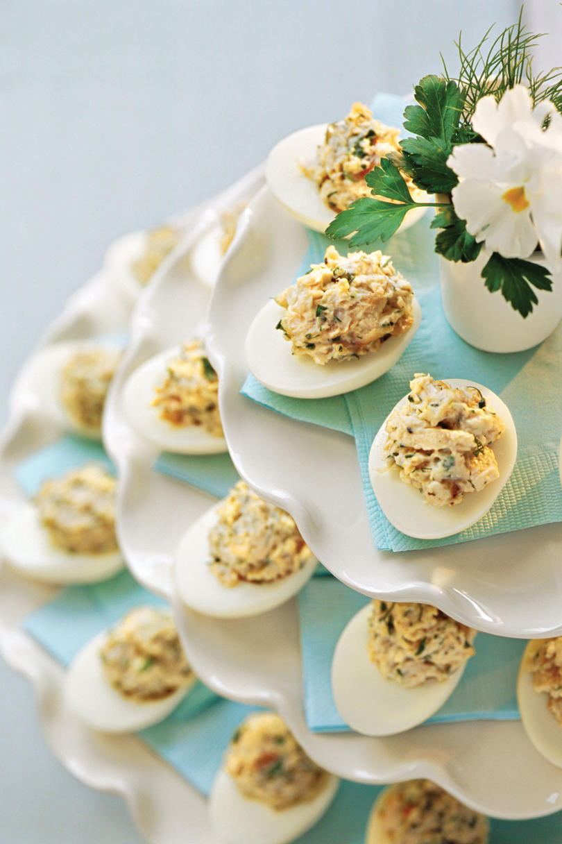 Lemon-Dill Chicken Salad-Stuffed Eggs