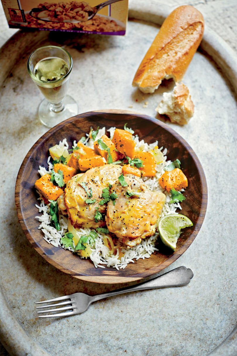 Curried Chicken Thighs with Sweet Potatoes
