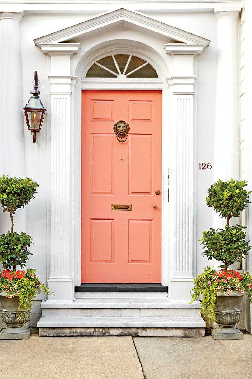 Charleston Door Pink & What Does Your Front Door Color Say About You? - Southern Living