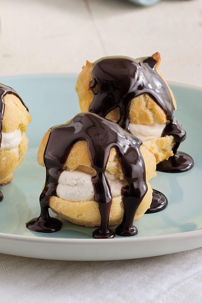 Sweet Valentine's Day Treats Profiteroles with Coffee Whipped Cream