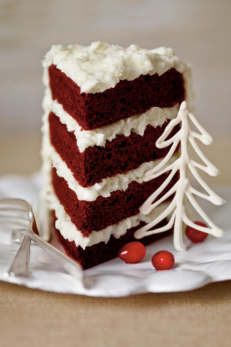 Red Velvet Cake Coconut Cream Cheese Frosting
