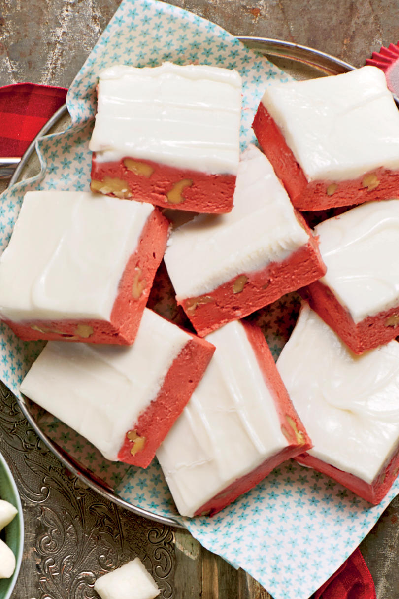 Sweet Valentine's Day Treats Red Velvet Fudge