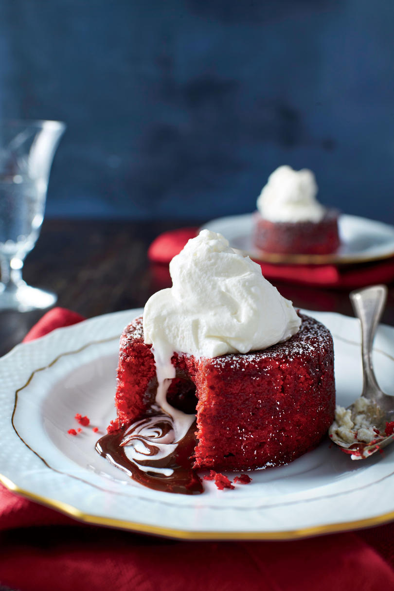February- Molten Red Velvet Cakes