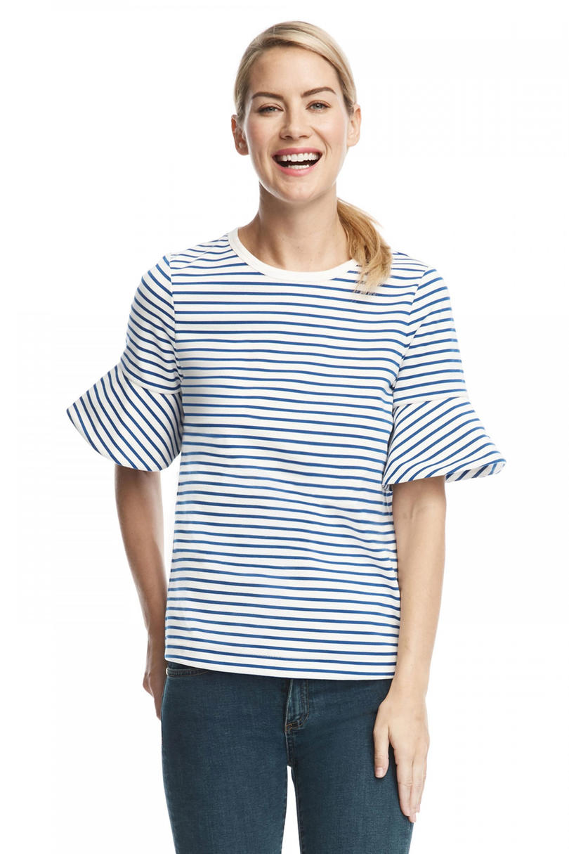 Sailor Stripe Ponte Tee