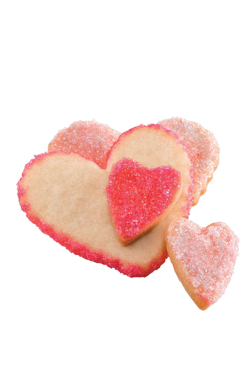 Sweet Valentine's Day Treats Sweetheart Sugar Cookies