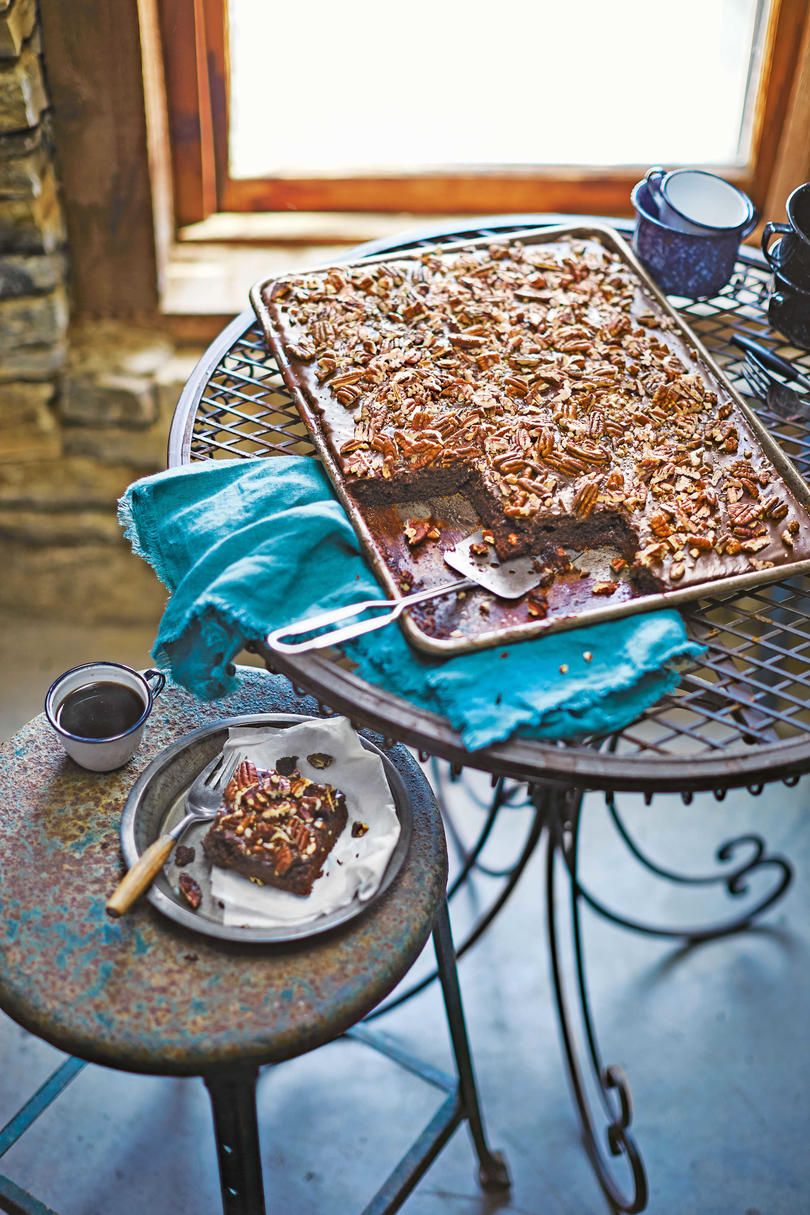 Texas Sheet Cake with Fudge Icing