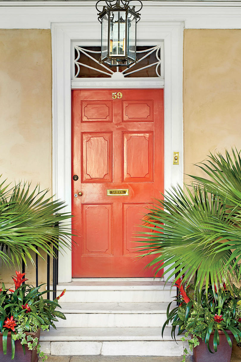 What does your front door color say about you southern living charleston door orange biocorpaavc Images
