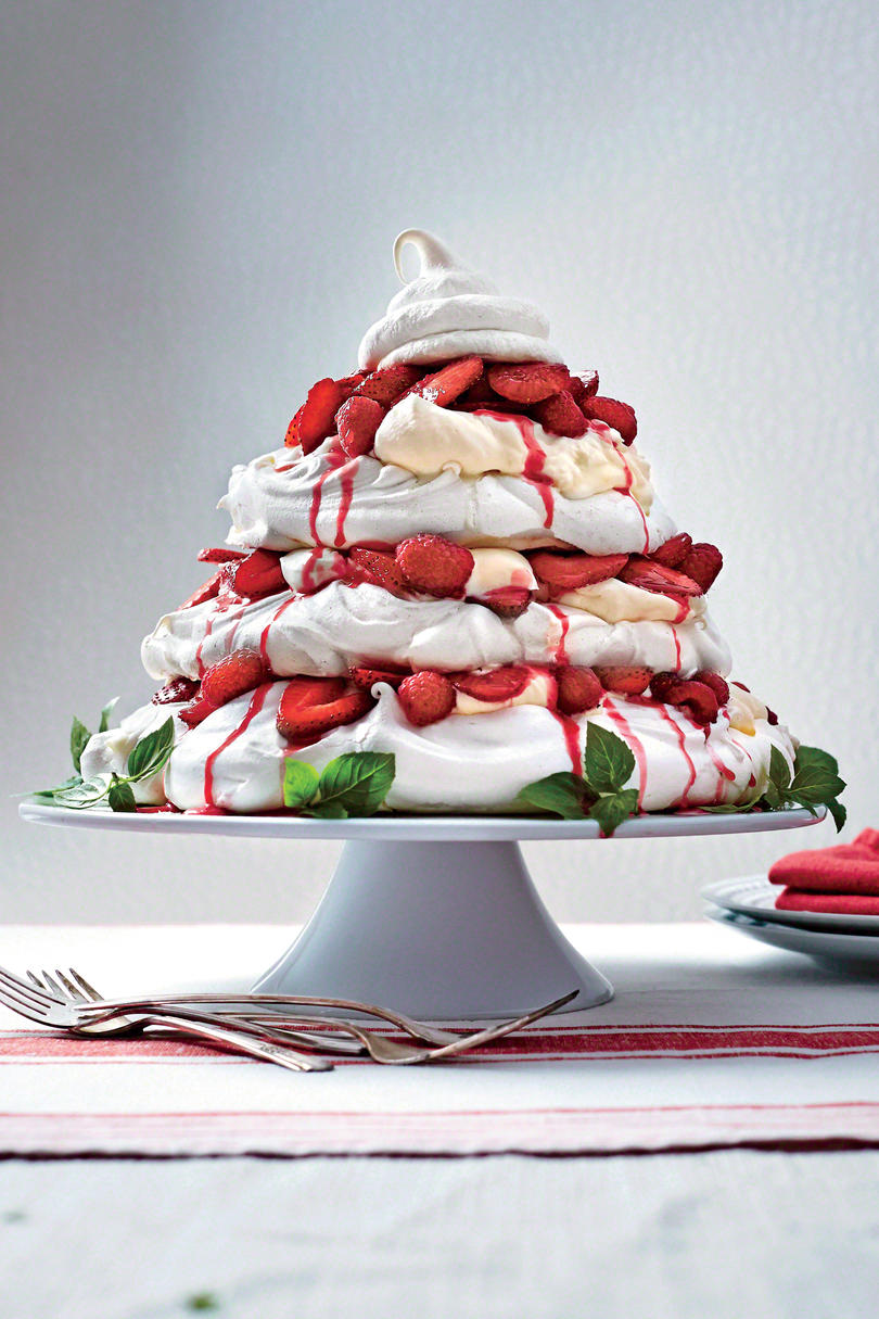 Red Berry Pavlova Tower