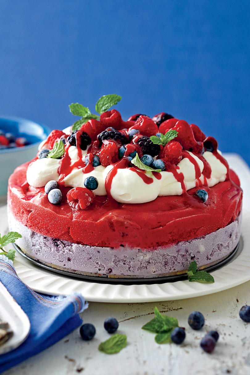 Red, White, and Blue Ice-Cream Cake