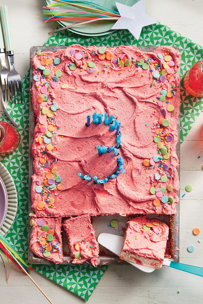 Cream Soda Confetti Sheet Cake