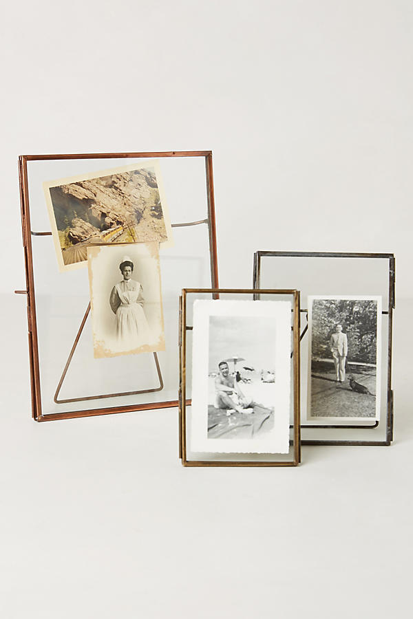 Pressed Glass Photo Frame