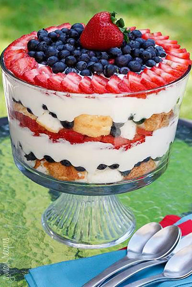 Berry, Cream, and Cake Trifle