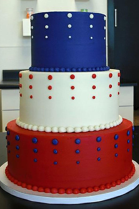 Red, White, and Blue Tower Cake
