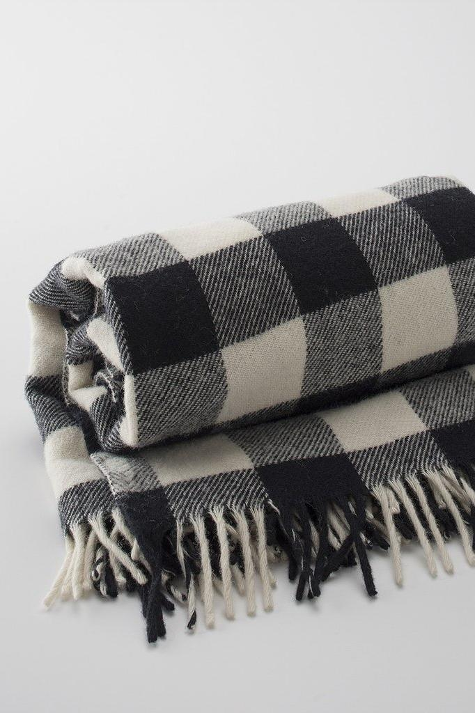 Schoolhouse Electric Supply & Co. Buffalo Plaid Fringed Throw