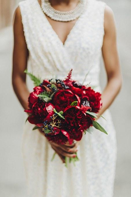 Peony Wedding Bouquets Ruby