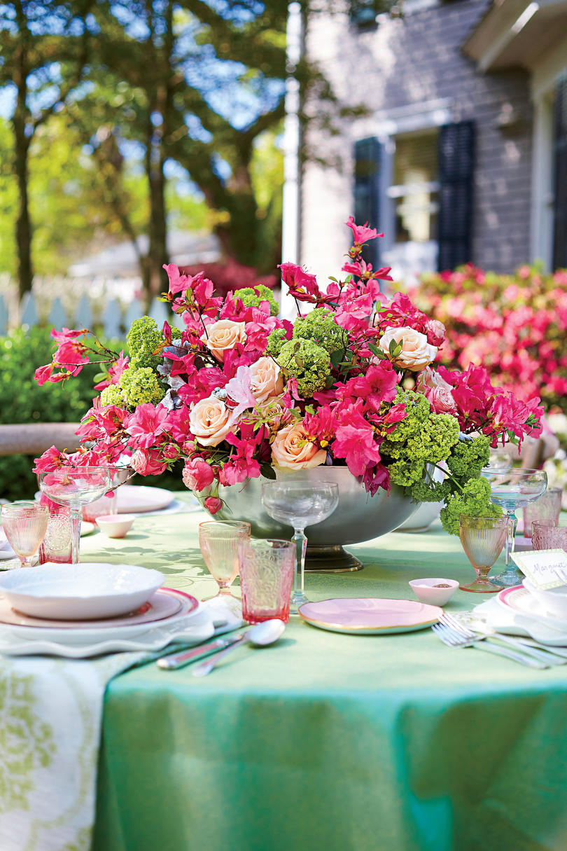 Azalea Flower Spring Party Centerpiece