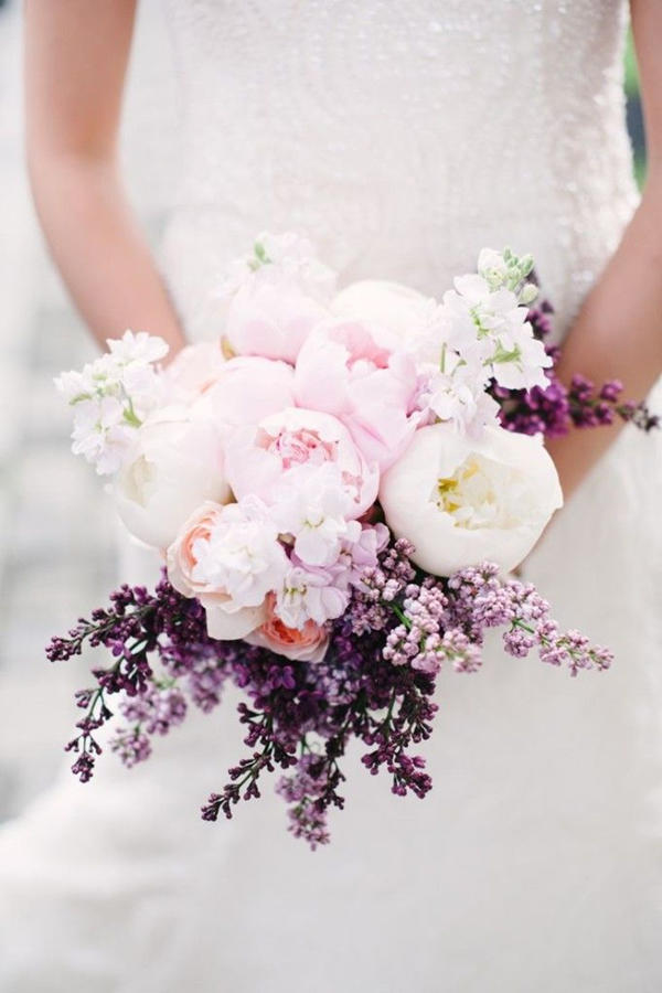 The prettiest peony wedding bouquets southern living peony wedding bouquets refined junglespirit Choice Image