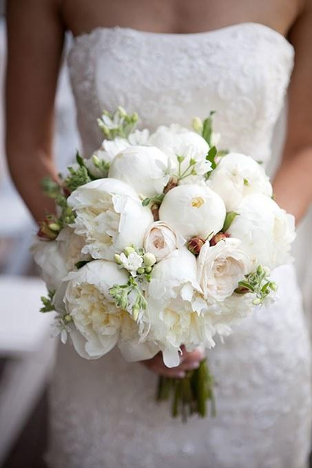 Peony Wedding Bouquets White