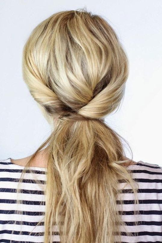 Triple Twisted Ponytail
