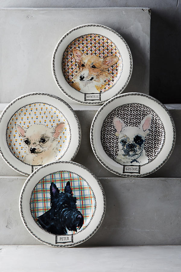 Gein Darling Dog Canape Plate Set