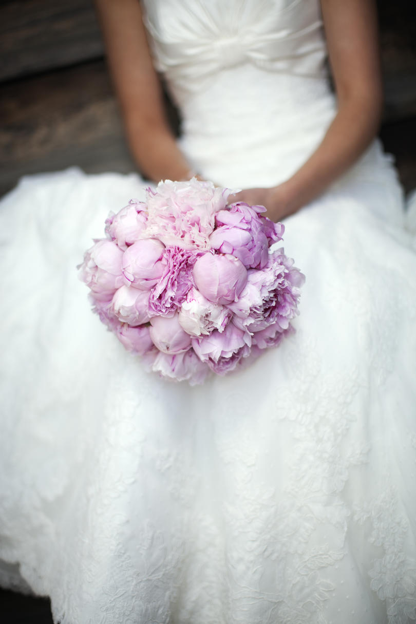 Peony Wedding Bouquets Textured