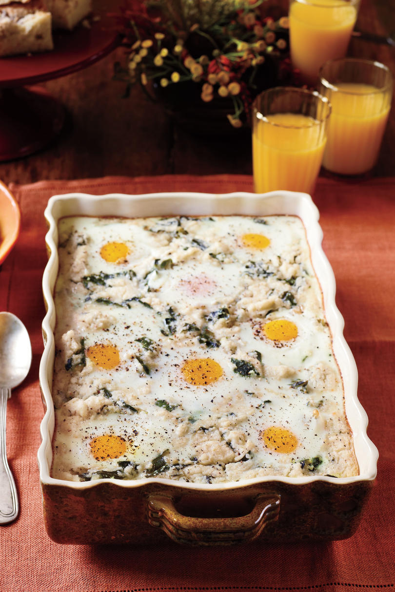 Grits-and-Greens Breakfast Bake