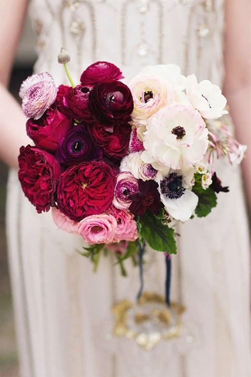 Red Garden Rose Bouquet 13 romantic ranunculus wedding bouquets - southern living